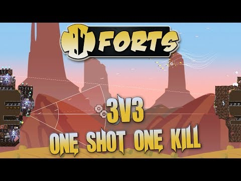 Forts Multiplayer 3v3 Gameplay One Shot One Kill