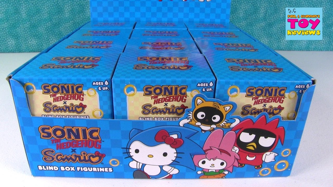 Sonic The Hedgehog X Sanrio Hello Kitty Figures Blind Box