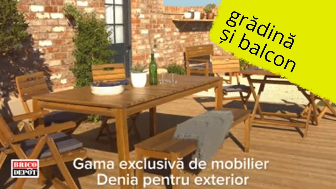 brico depot gama exclusiva de mobilier denia pentru exterior with hotte bricodepot. Black Bedroom Furniture Sets. Home Design Ideas