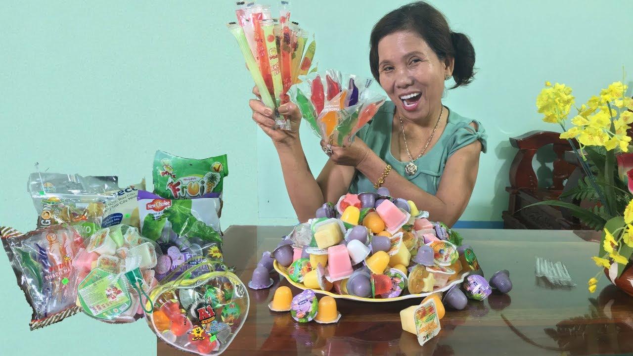 Chi Lan | Ăn Thử Các Loại Thạch Rau Câu Trong Siêu Thị