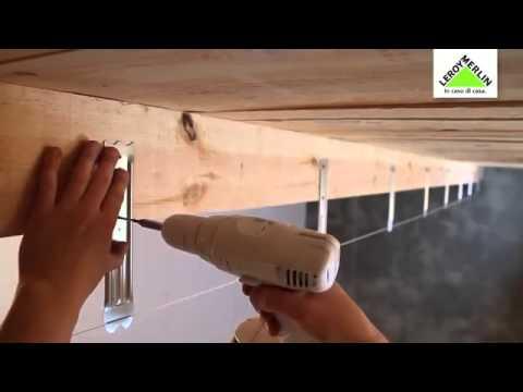 Come posare un controsoffitto in cartongesso su una struttura di legno - YouTube