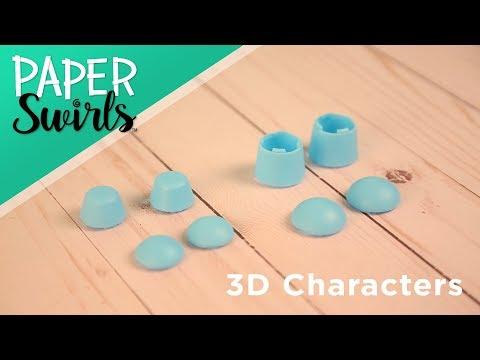 ALEX DIY PAPER SWIRLS 3D Characters