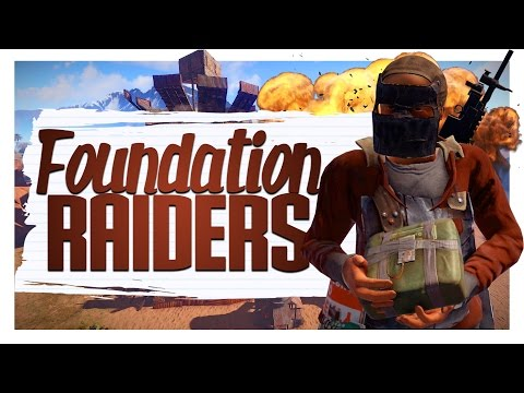 Foundation Wiping The Raiders! - Rust