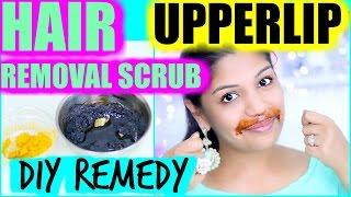 Upper Lip hair Removal Sugar Lemon Scrub | SuperPrincessjo