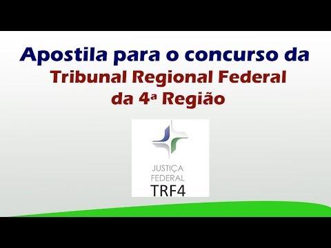 Apostila para o Concurso do Tribunal Regional Federal da 4ª Região