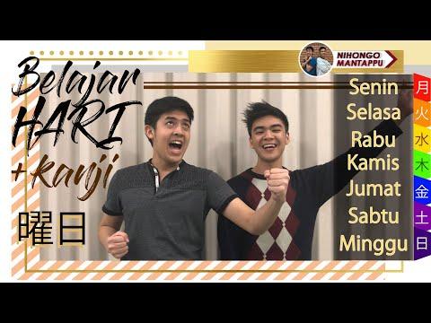 Belajar Bahasa Jepang 8 | Nama HARI + Kanji