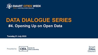 Smart Cities Week 2020: Data Dialogues -  Opening Up on Open Data