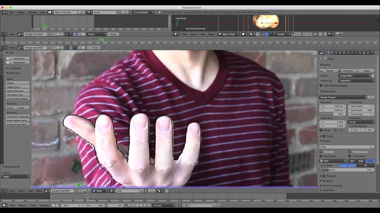 Blender VFX masking tutorial: Fire Power!