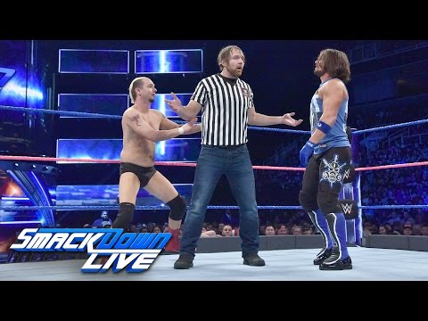 James Ellsworth vs. AJ Styles - Special Guest Referee Dean Ambrose: SmackDown LIVE, Oct. 11, 2016
