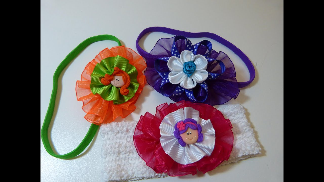 Accesorios , Moños, Lazos faciles ,para el cabello. bows and flowers for hair , YouTube