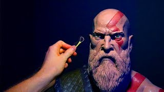 Sculpting Kratos from God of War 4  2018 in Monster Clay!