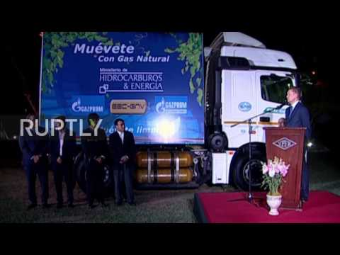 Bolivia: Gazprom CEO presents Morales govt. with symbolic Kamaz truck