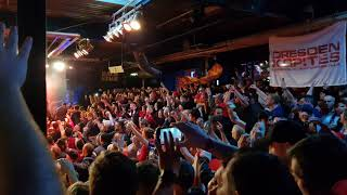 LFC fans sing Solsbury Hill at Munich Boss Session. 13/03/19