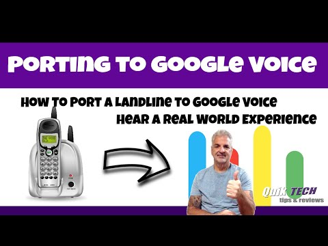 Porting A Landline To Google Voice