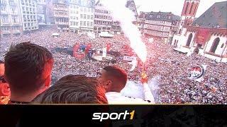 Boateng und Bengalos: Eintracht Frankfurt rockt den Römer nach Pokalsieg | SPORT1