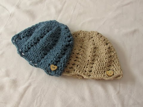 How to crochet a pretty women's hat / beanie