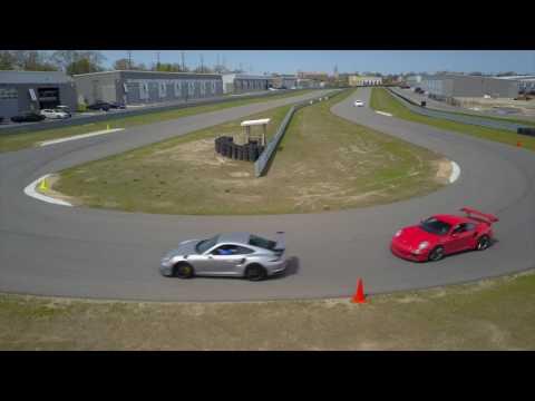GT3 RS at M1 Concourse via DJI Mavic Pro Drone