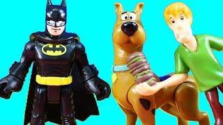 Imaginext Batman & Superman Go On Superhero Adventure At Scooby Doo Mansion