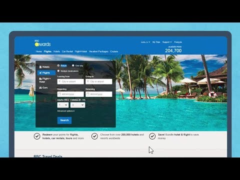 How to book a flight – other RBC Rewards cardholders