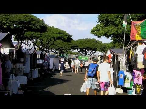 SWAP MEET, ALOHA STADIUM, HAWAII SHOPPING in HD
