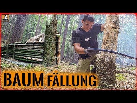 """""""Survival Mattin"""" überlebt BAUM fällen SHELTER BAU ÜBERNACHTUNG im BUSHCRAFT CAMP nur knapp."""