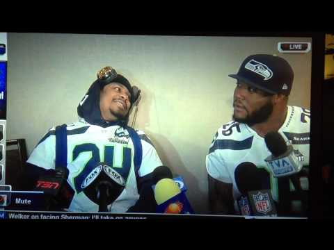 Marshawn Mike Rob media Day Interview. Hilarious. Boss. Go Hawks!