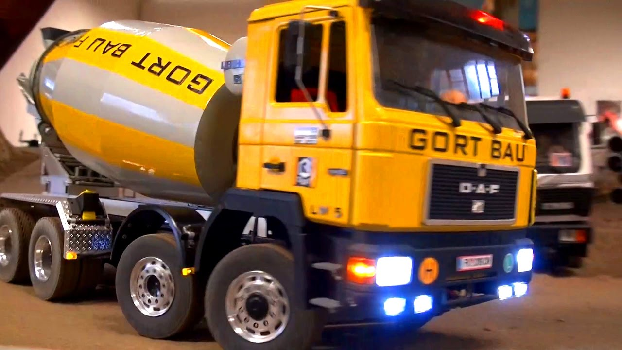 Real Rc Concrete Mixer Big Rc Truck Action Man Scaleart