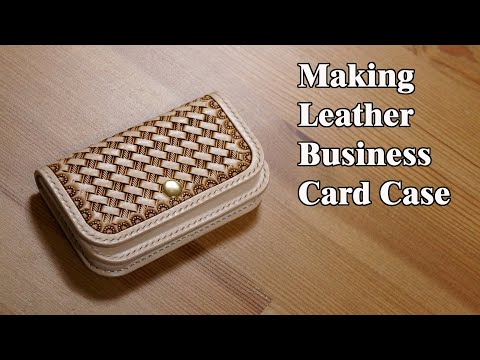 37 [Leather Craft] Making Leather Business Card Case / [가죽공예] 가죽 명함 케이스 만들기 / Free Pattern