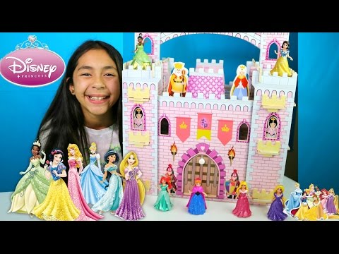 Giant Disney Princess Castle|Disney Princess Dance Aurora Snow White Rapunzel Ariel Elsa|B2cutecupca