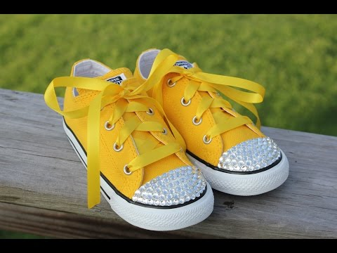 How to Bling converse shoes ~ add crystals to the toes of shoes