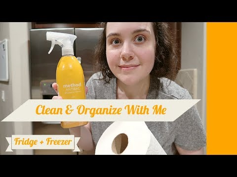 CLEAN & ORGANIZE WITH ME // FRIDGE + FREEZER 2019