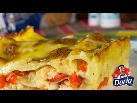 lasagna pollo y pimenton