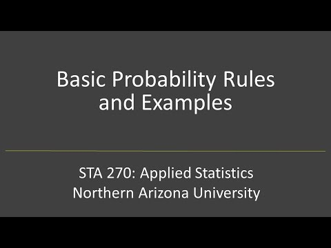 Basic Probability Rules and Examples