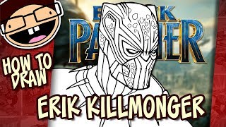 How to Draw KILLMONGER / GOLDEN JAGUAR (Black Panther) | Narrated Easy Step-by-Step Tutorial