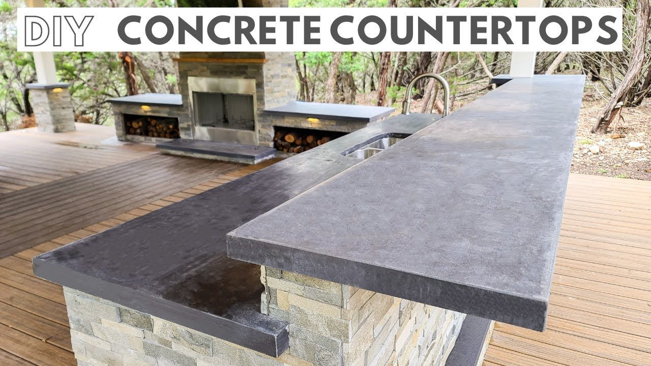 Concrete Countertops! How to Pour In Place | Outdoor Kitchen Part 6