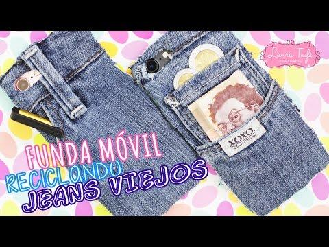 Haz una FUNDA para MÓVIL usando tus Jeans VIEJOS!!