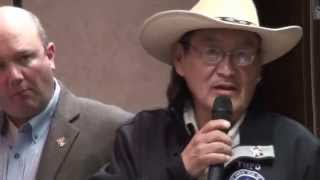 DISRESPECT! Northern Cheyenne James Walks Along is thrown off the stage