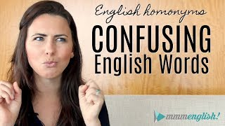 Confusing English Words!   HOMONYMS   Fix Common Vocabulary Mistakes & Errors
