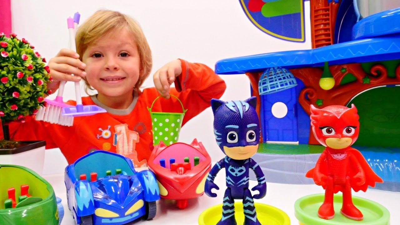 Герои в масках - Делаем уборку! Мультики для малышей - YouTube