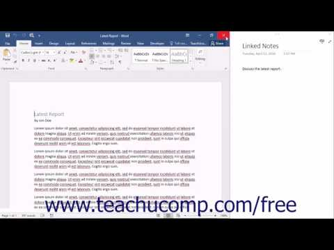 OneNote 2016 Tutorial Linked Notes Microsoft Training