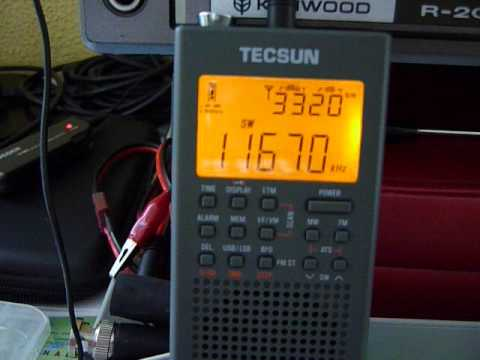 Tecsun PL-360 (365) mit AOR LA390 Loop Antenne Antenna - YouTube