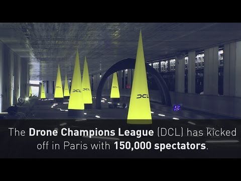 Drone Champions Leauge takes over Paris' Champs-Elysées