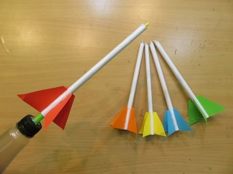 How To Make A Simple Rocket Launcher Easy Paper Rocket