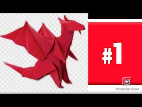 how to make a beautiful paper dragon