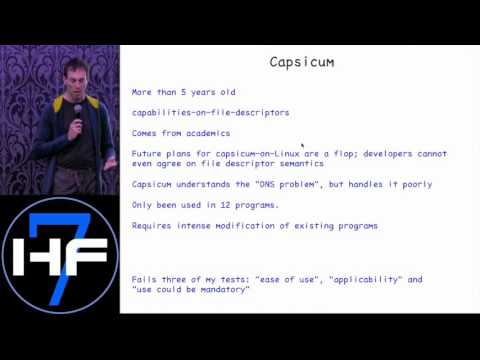 "Hackfest 2015: Theo de Raadt presented ""Pledge: A new security technology in openbsd"""