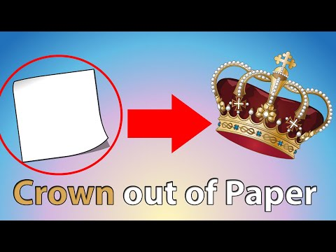 How to make Crown with Paper - How to Make Paper Things at Home