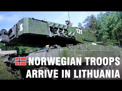 Norwegian troops arrive in Lithuania