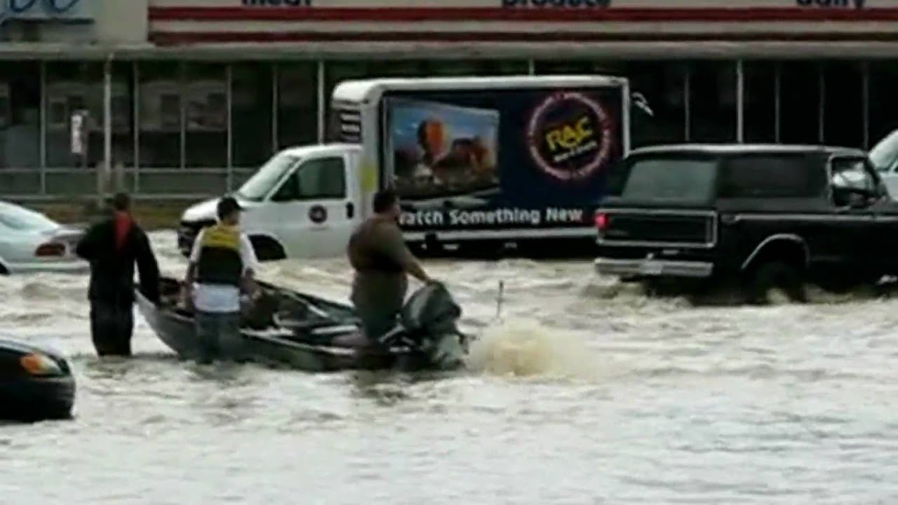 monster truck rescue pep boys flooding caught on