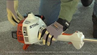 STIHL FS 38 Trimmer- How to Start
