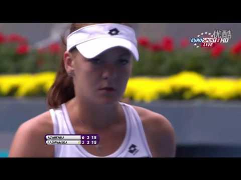 Azarenka VS Radwanska Highlight 2012 SF